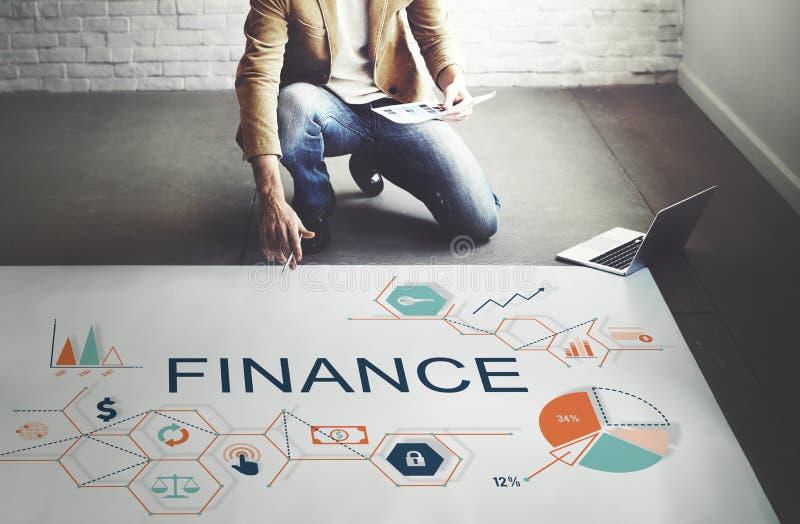 Finanzgeld-Schuld-Habensaldo-Konzept lizenzfreie stockfotos