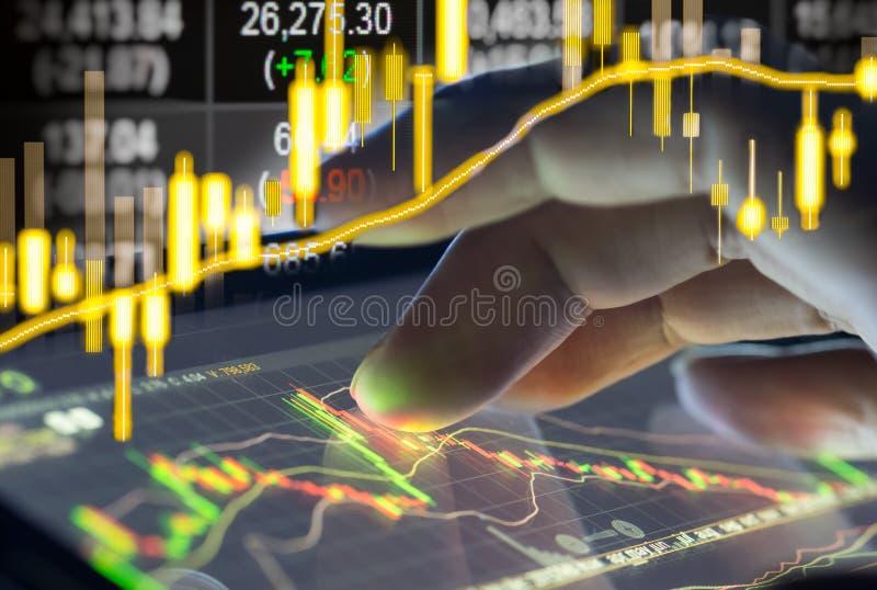 Finanziellbörsedaten Kerzenhalterdiagrammdiagramm von Vorrat m lizenzfreies stockbild