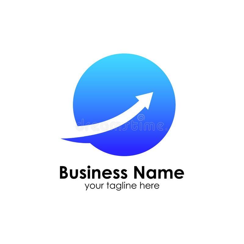 Finanzierung Logo Template Buchhaltungslogoschablone entwirft Ikone stock abbildung