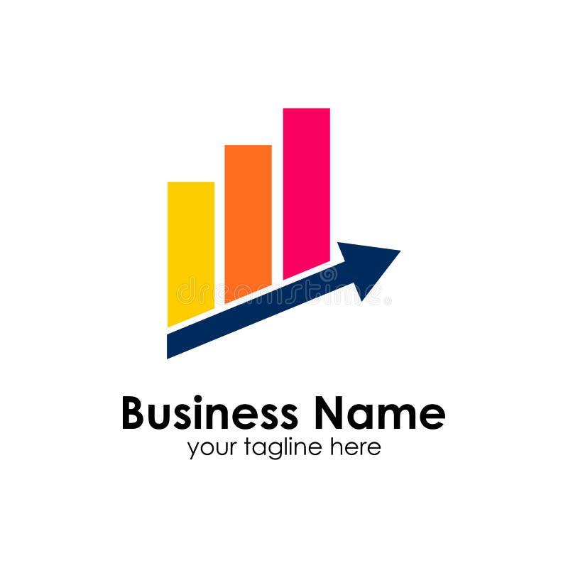 Finanzierung Logo Template Buchhaltungslogoschablone entwirft Ikone lizenzfreie abbildung