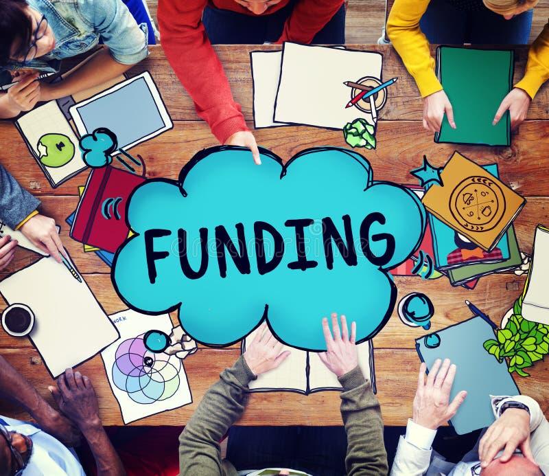 Finanzierungs-Spenden-Investitions-Budget-Kapital-Konzept lizenzfreie stockbilder