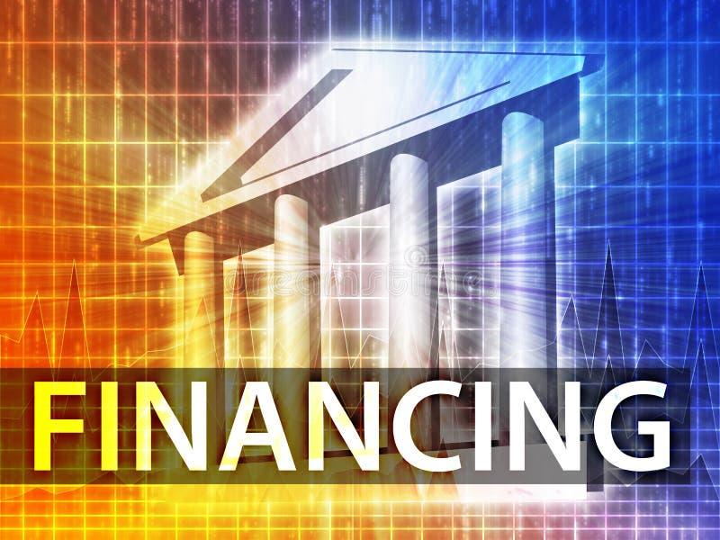 Finanzierungsabbildung stock abbildung