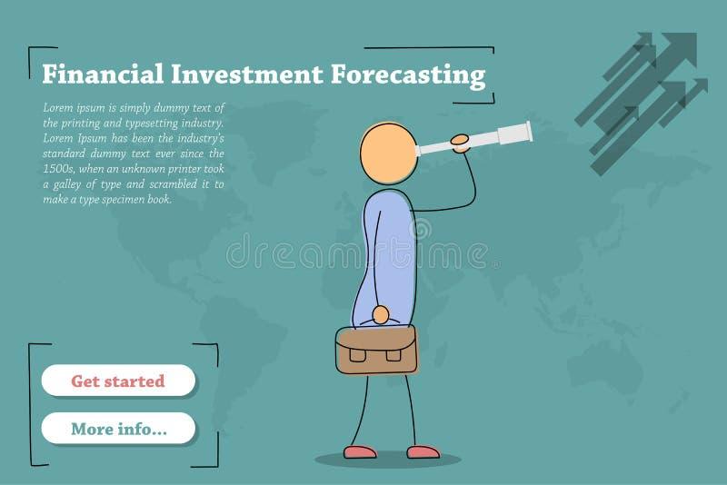 Finanzinvestitions-Voraussage - Fahne lizenzfreie abbildung