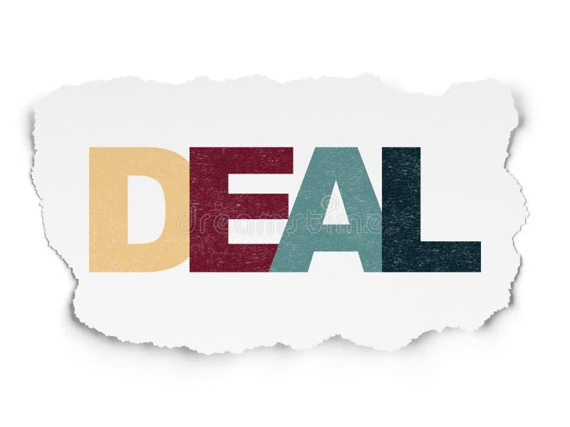 Finanzkonzept: Abkommen auf heftigem Papierhintergrund vektor abbildung