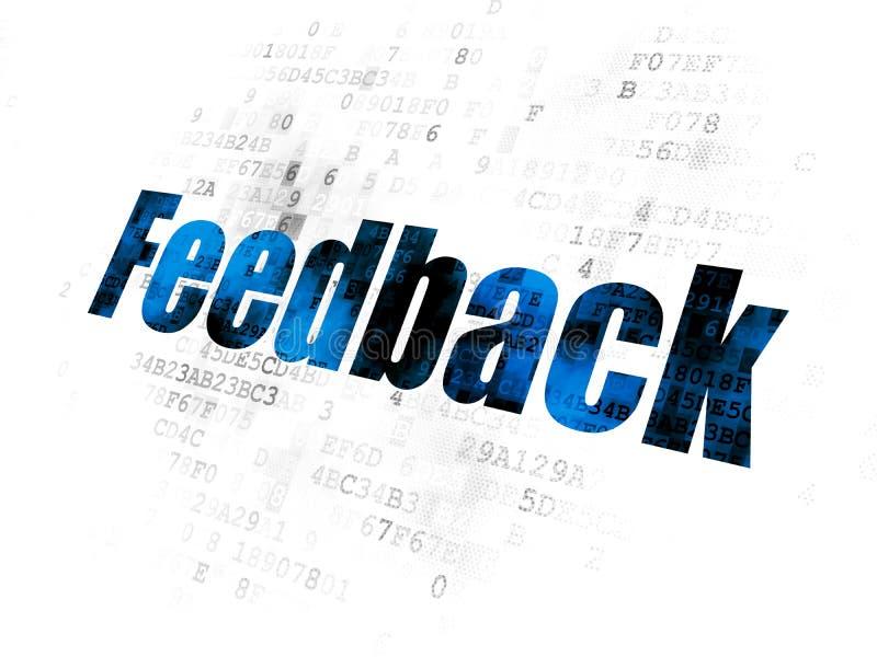 Finanzkonzept: Feedback auf Digital-Hintergrund stock abbildung