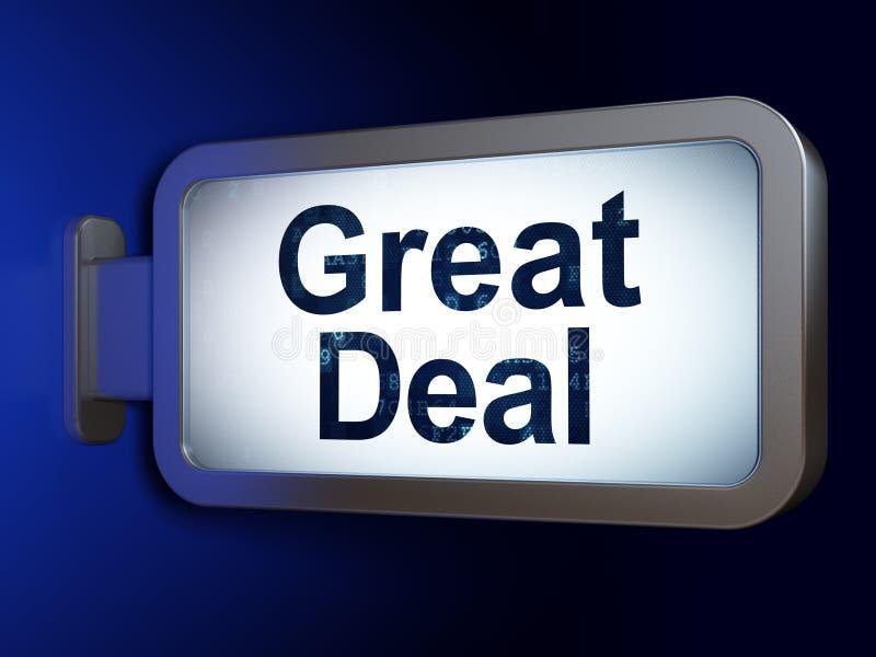 Finanzkonzept: Großes Abkommen auf Anschlagtafelhintergrund vektor abbildung