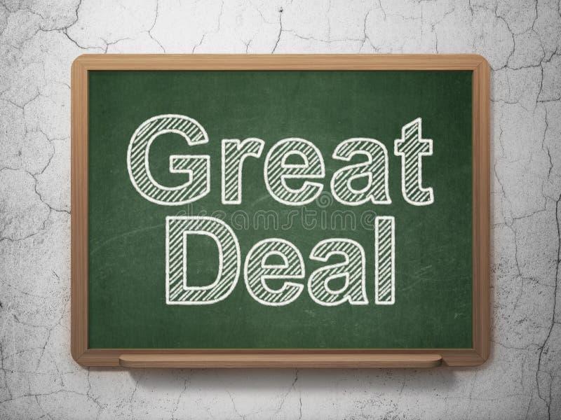 Finanzkonzept: Großes Abkommen auf Tafelhintergrund vektor abbildung