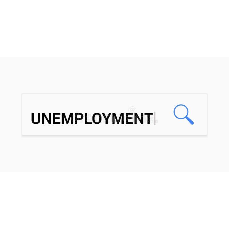 Finanzkonzept: Optisches Vergrößerungsglas mit Wort-Arbeitslosigkeit lizenzfreie abbildung