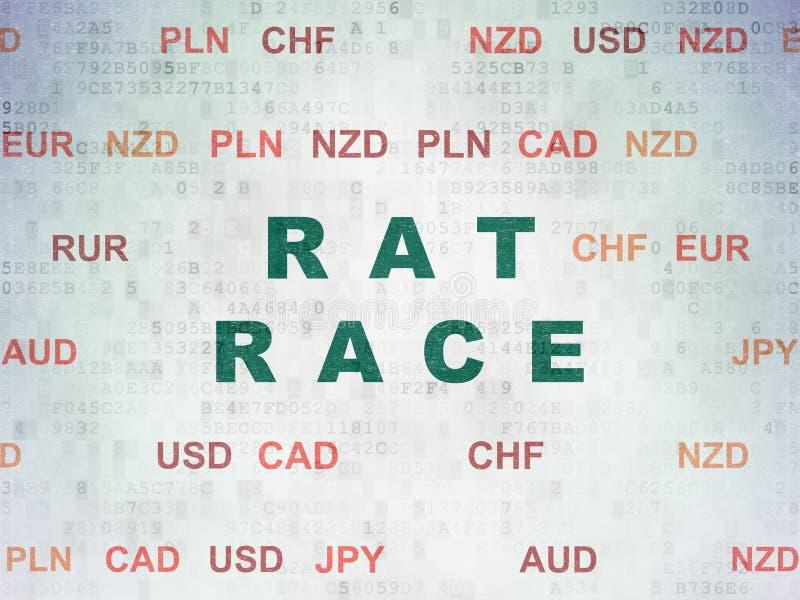 Finanzkonzept: Ratten-Rennen auf Digital-Daten-Papierhintergrund stock abbildung