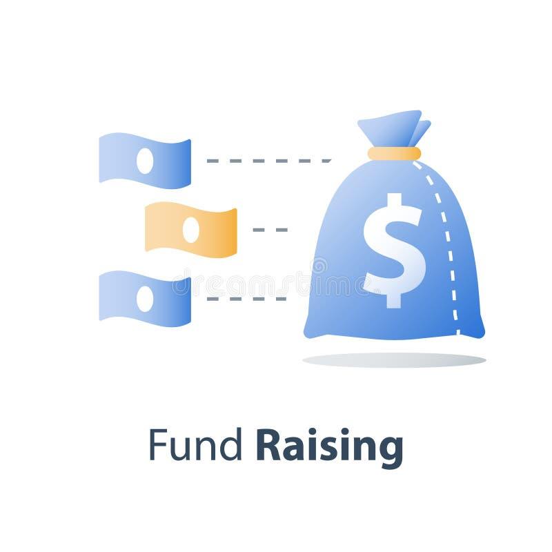 Finanzkonzept, schnelles Geld, schnelles Bardarlehen, investieren Kapital, Haushaltsplan, Börse, Vermögensverwaltung, Wert-Invest lizenzfreie abbildung