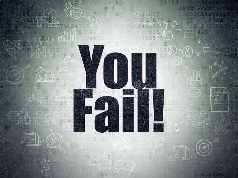 Finanzkonzept: Sie fallen aus! auf Digital-Daten tapezieren Sie Hintergrund vektor abbildung