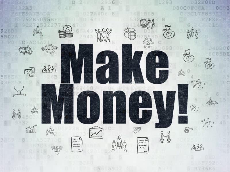 Finanzkonzept: Verdienen Sie Geld! auf Digital-Daten tapezieren Sie Hintergrund vektor abbildung