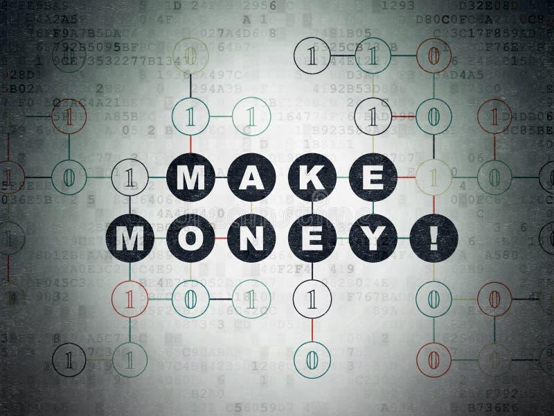 Finanzkonzept: Verdienen Sie Geld! auf Digital-Daten tapezieren Sie Hintergrund lizenzfreie abbildung