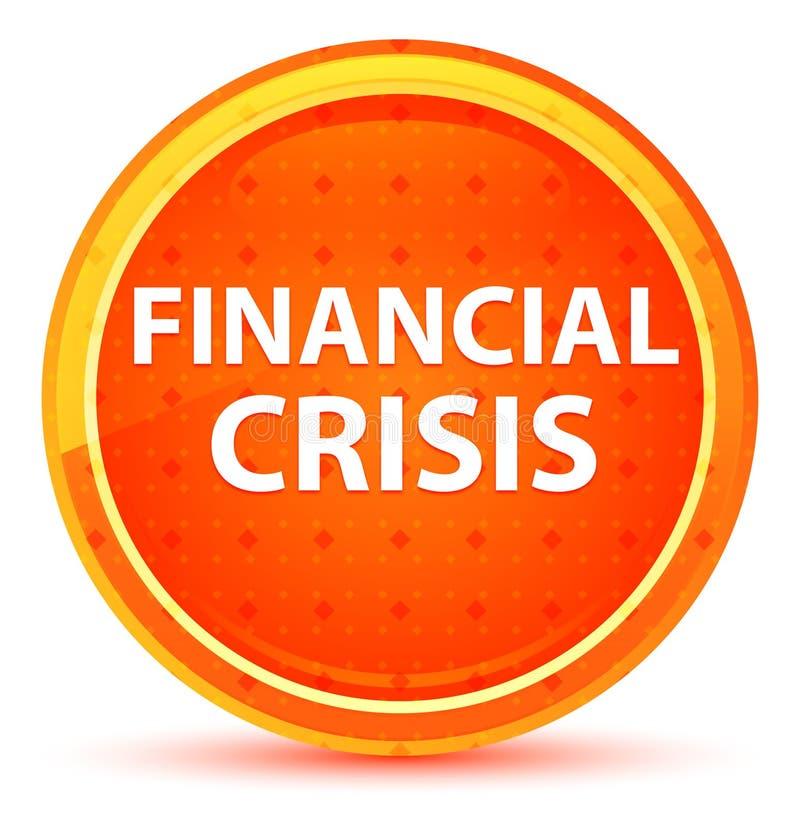 Finanzkrise-natürlicher orange runder Knopf lizenzfreie abbildung