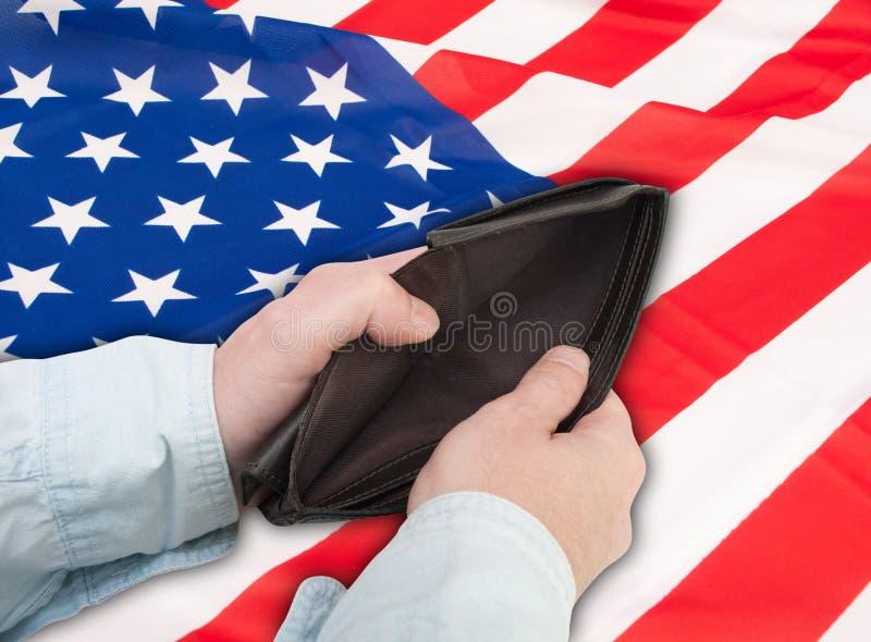 Finanzkrise in USA lizenzfreie stockbilder