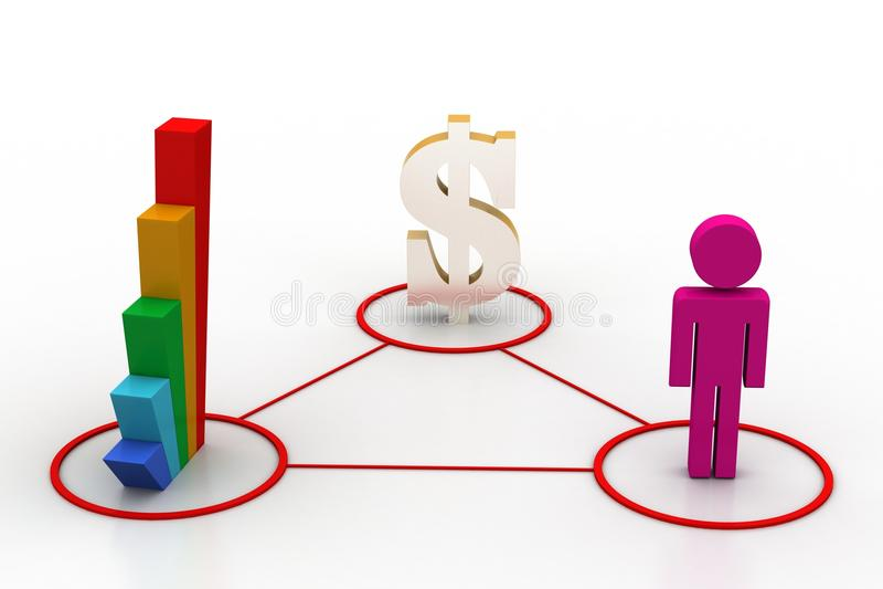 Finanznetz vektor abbildung