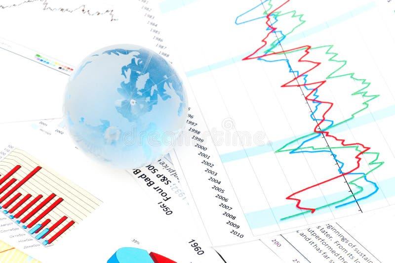 Finanzpapiere stockfoto