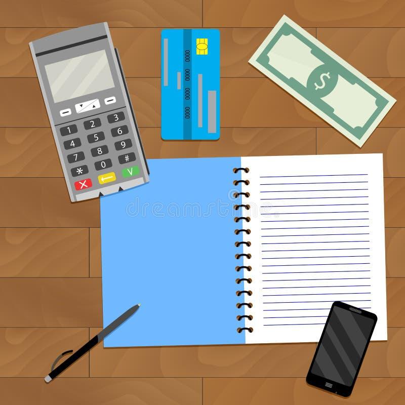 Finanzplanungs-Geschäft stock abbildung