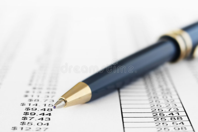 Finanzreport stockbild