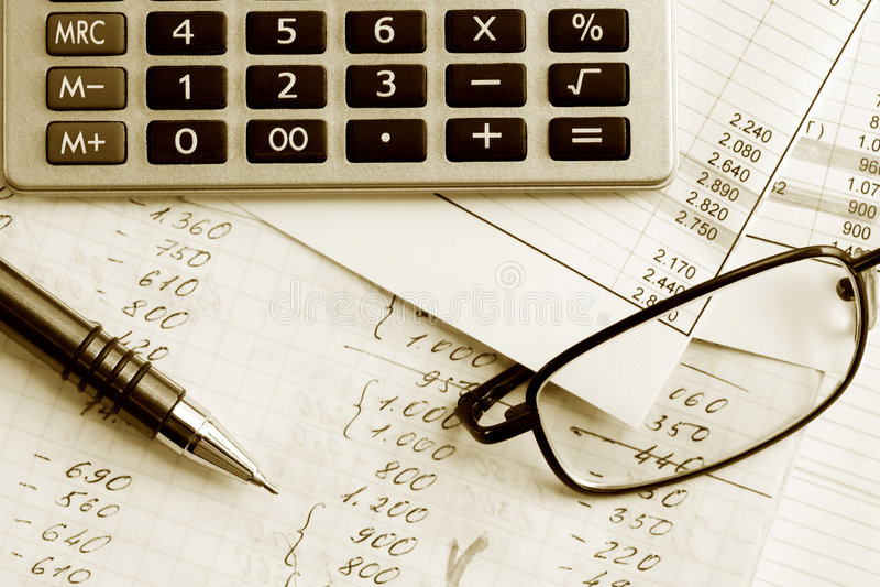 Finanzreports. lizenzfreie stockfotos