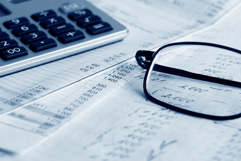 Finanzreports. lizenzfreies stockbild