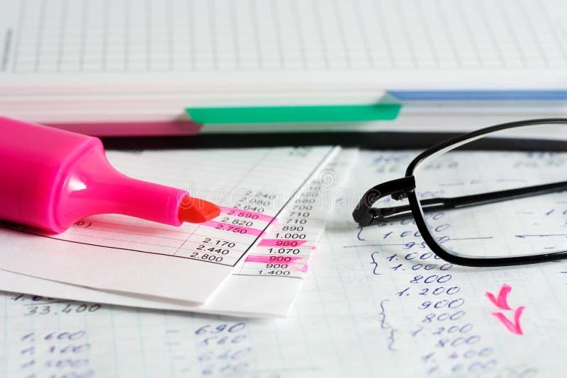 Finanzreports. stockbild