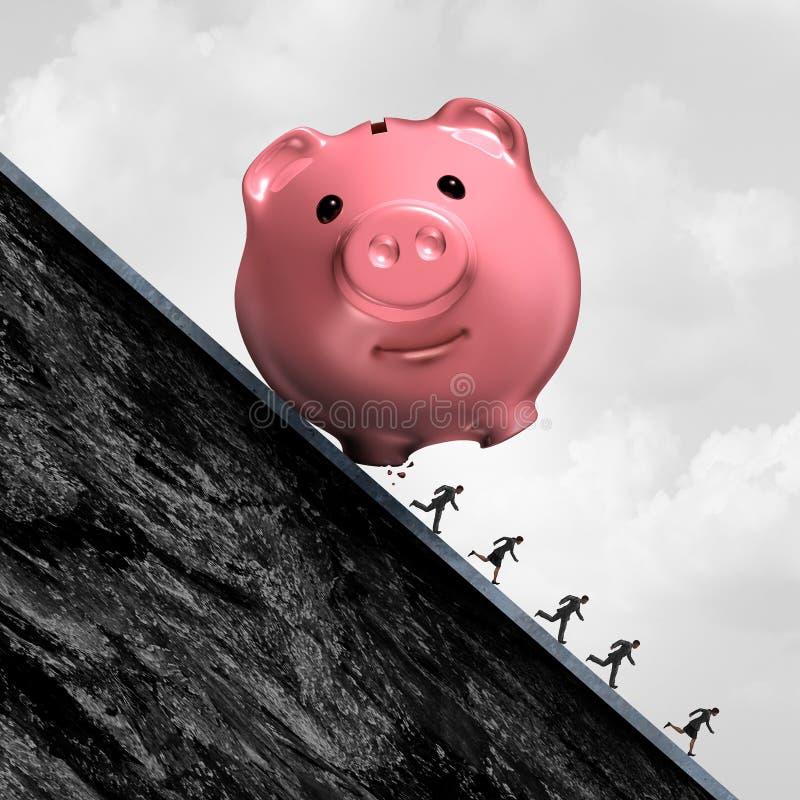 Finanzschuld-Druck lizenzfreie abbildung