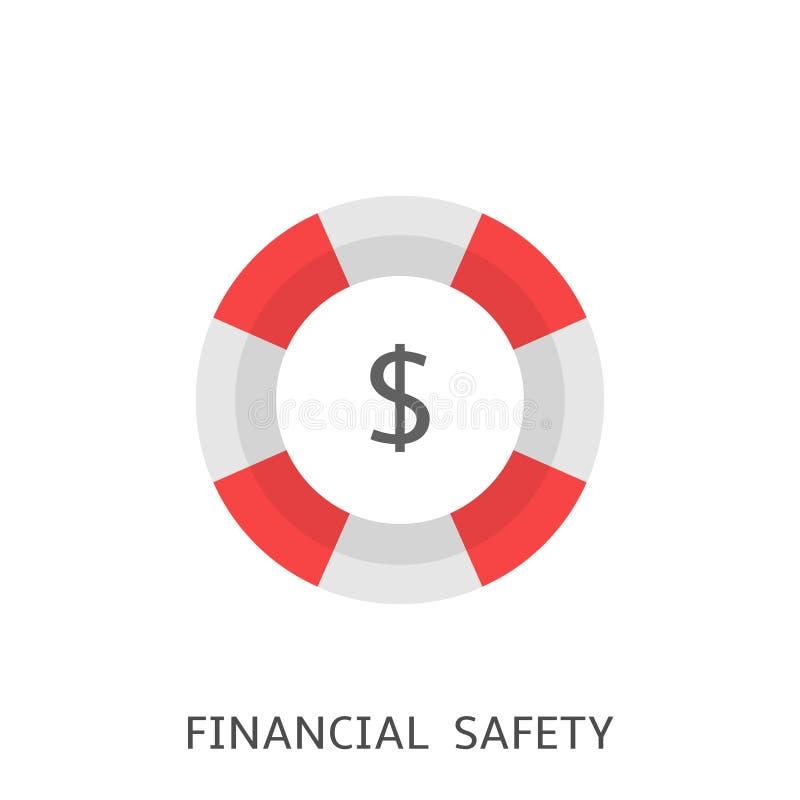 Finanzsicherheitsikone Vektor lizenzfreie abbildung