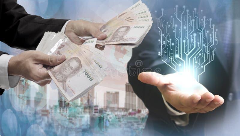 Finanztechnologiekonzept lizenzfreies stockbild