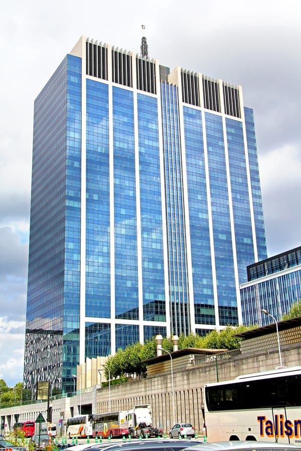 Finanzturm in Brüssel, Belgien lizenzfreie stockfotos