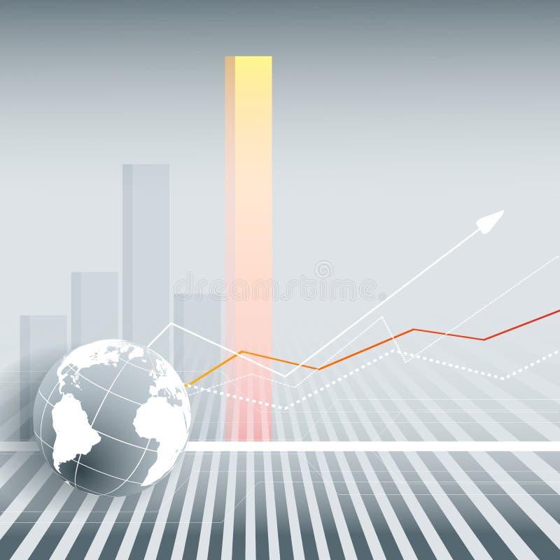 Finanzvektorhintergrund stock abbildung