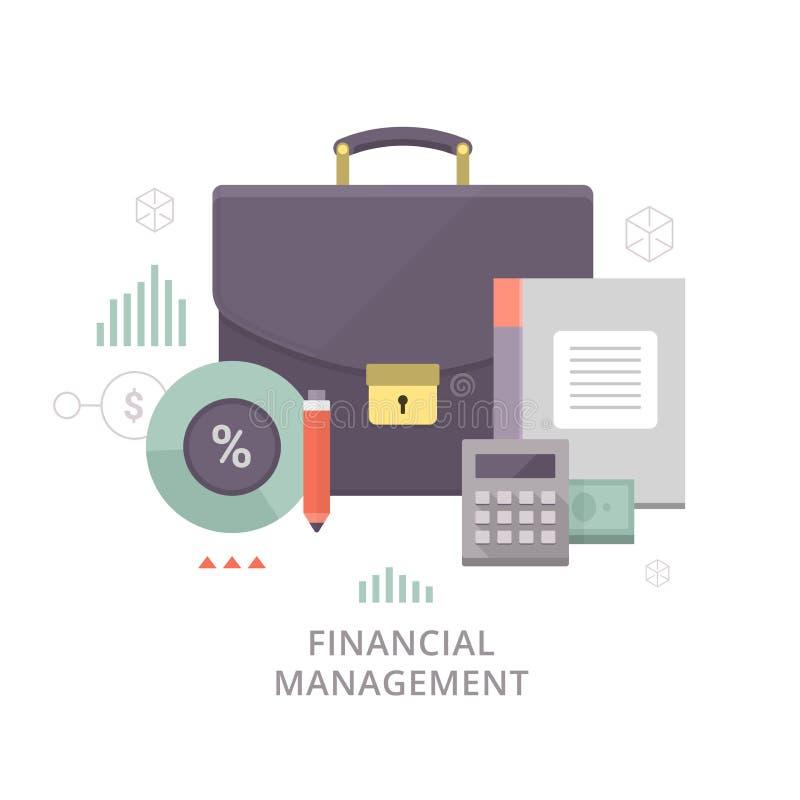 Finanzverwaltung vektor abbildung