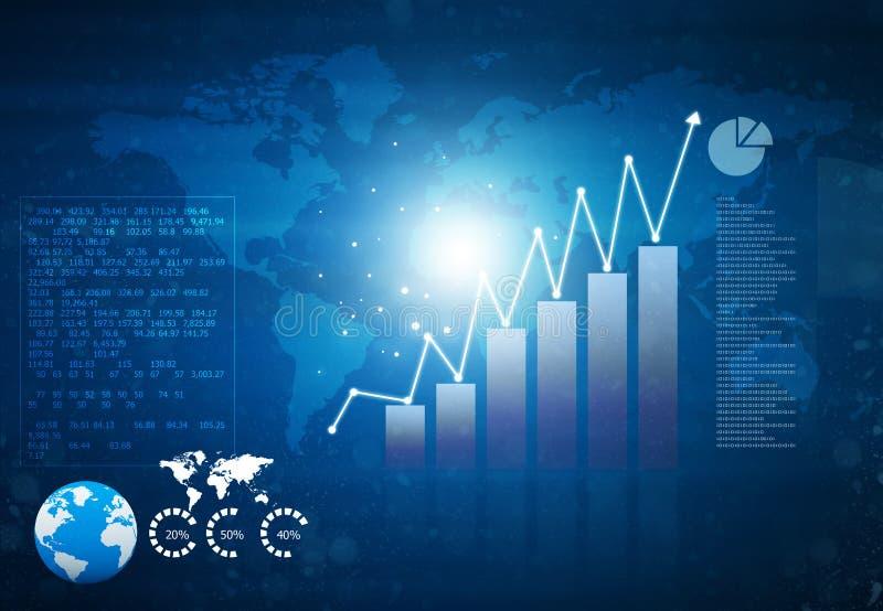 Finanzwachstumsdiagramm stock abbildung