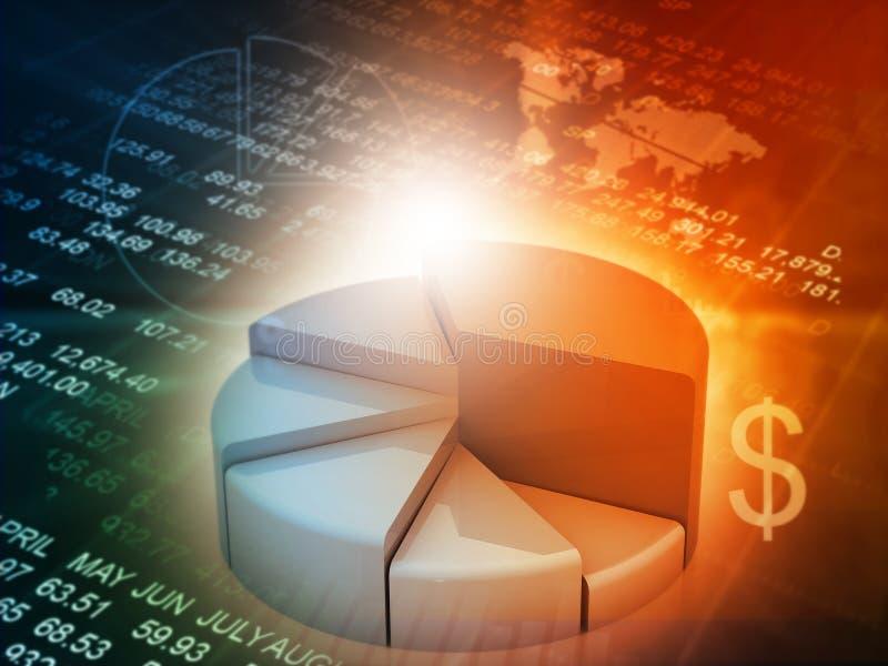 Finanzwachstumstabelle lizenzfreie abbildung