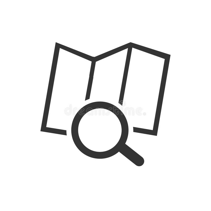 Find Address Icon. Beautiful, Meticulously Designed Find Address Icon stock illustration