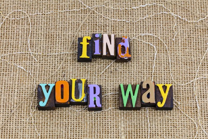Find choose your way journey trip travel direction purpose path royalty free stock photography