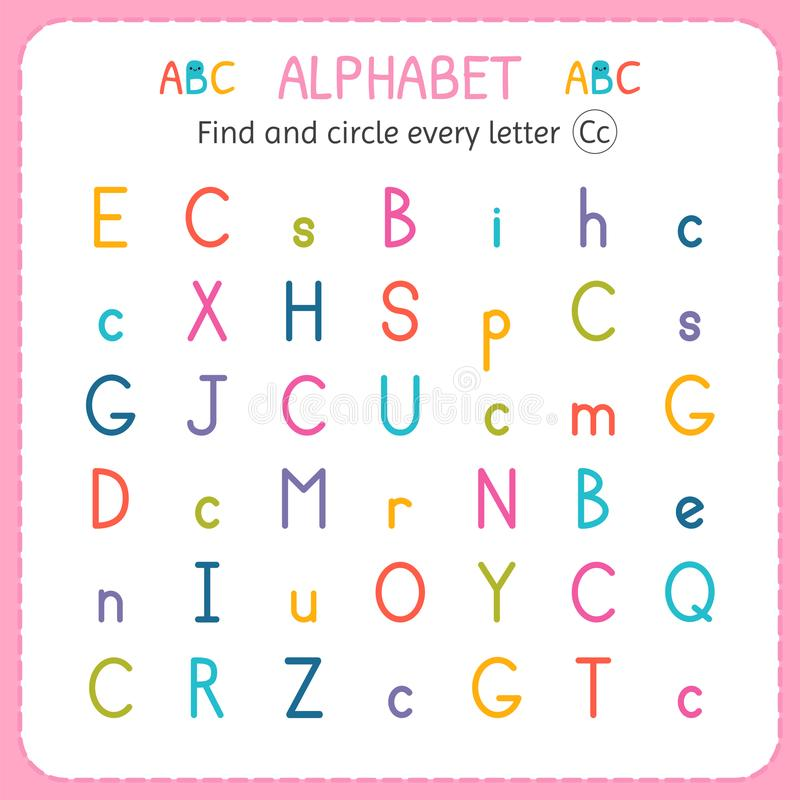 Find And Circle Every Letter C. Worksheet For Kindergarten And ...