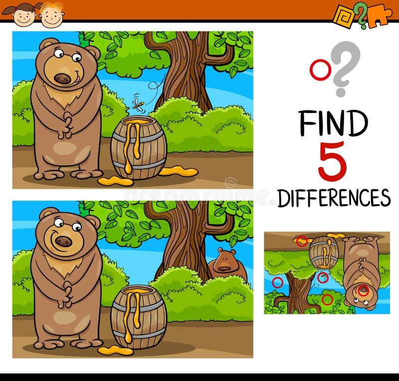 Find differences task for kids vector illustration