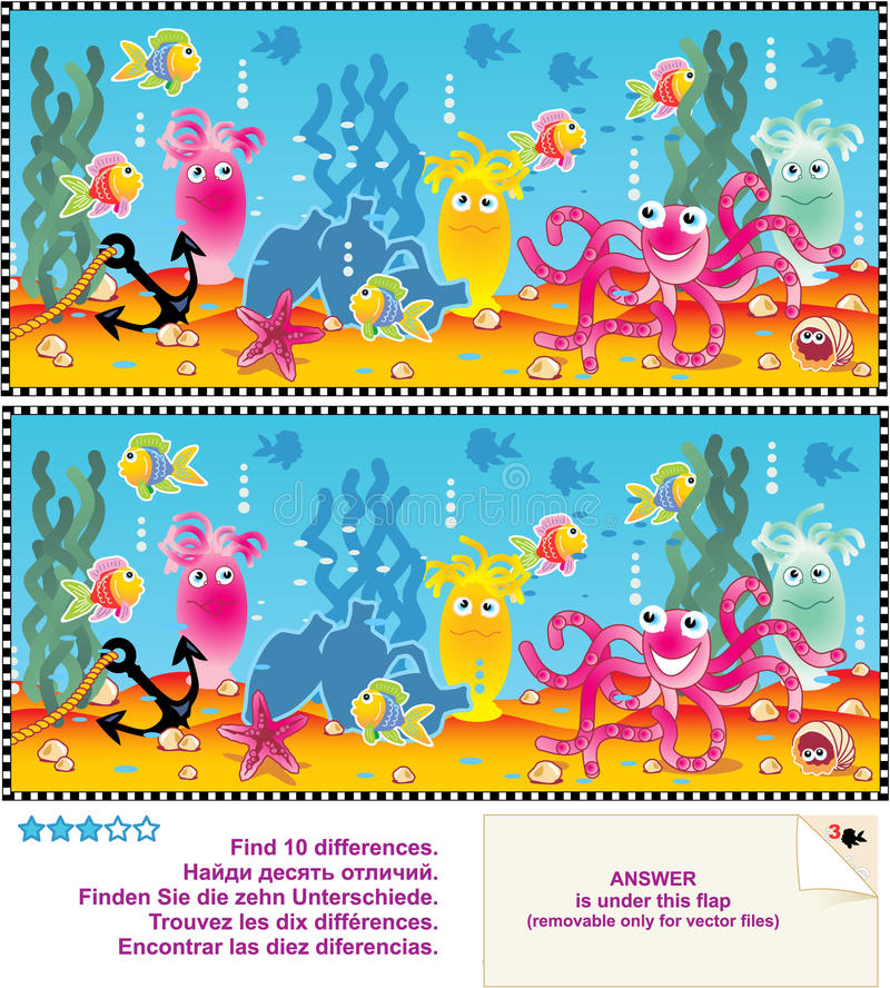 Download Find The Differences Visual Puzzle Stock Vector - Image: 20514347