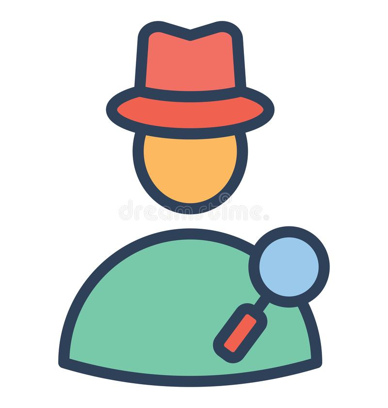 Find employ, find man Isolated Vector Icon That can be very easily edit or modified. stock illustration