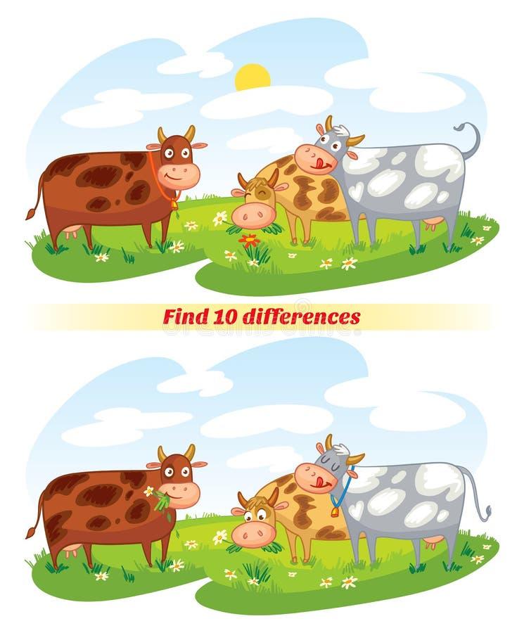 find för 10 skillnader royaltyfri illustrationer
