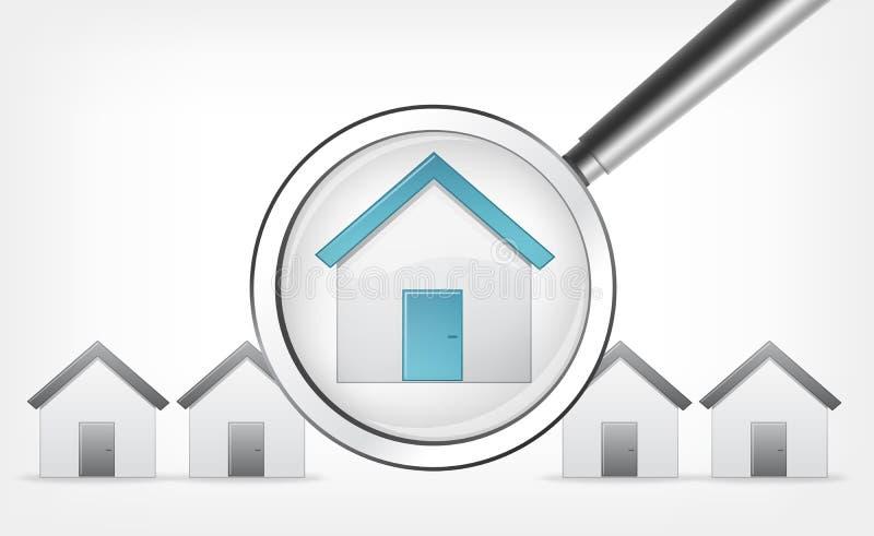 Find Home. Vector EPS 10. Find Home Concept. Grey Gradient Background. Vector EPS 10 stock illustration