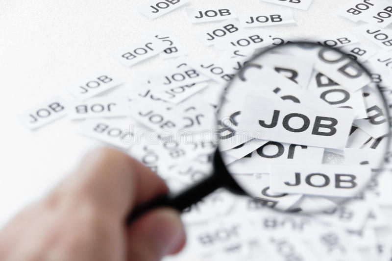 Download Find a job concept stock photo. Image of paper, search - 22248792