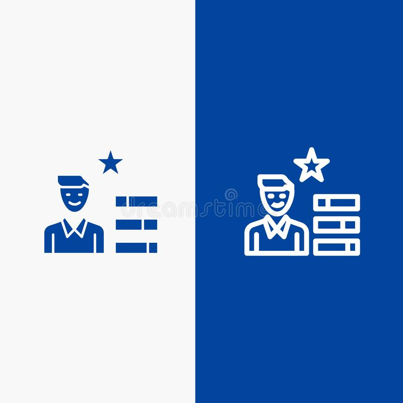 Find Job Human Resource Magnifier Personal Line And Glyph Solid Icon Blue Banner Line And Glyph Solid Icon Blue Banner Stock Vector Illustration Of Office Symbol 148956866