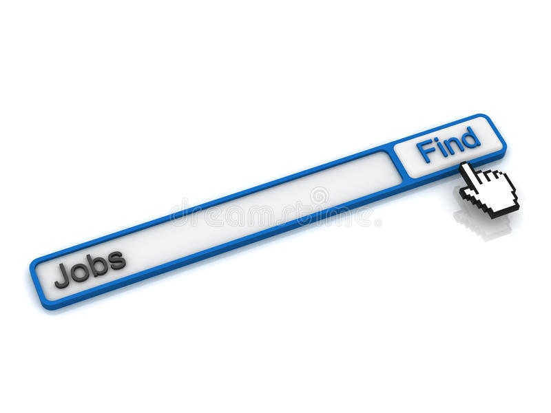 Find jobs on the internet concept royalty free illustration
