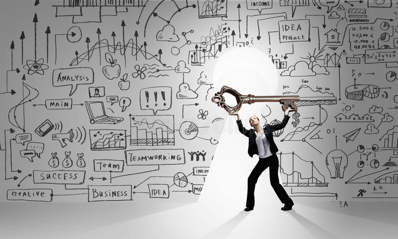 Find key to success stock illustration