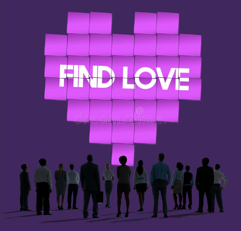 Find Love Heart Technology Graphic Concept royalty free stock photos