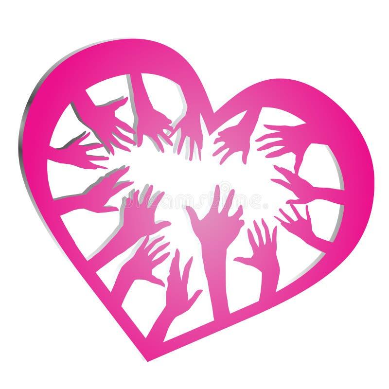 Find love vector illustration