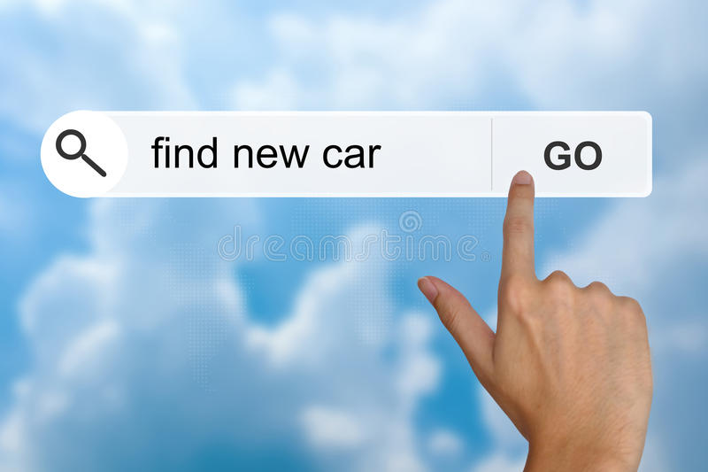 Download Find New Car On Search Toolbar Stock Image - Image of store, transport: 38161485