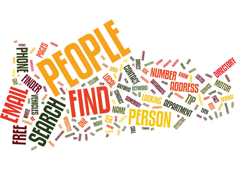 Find People Text Background Word Cloud Concept vector illustration